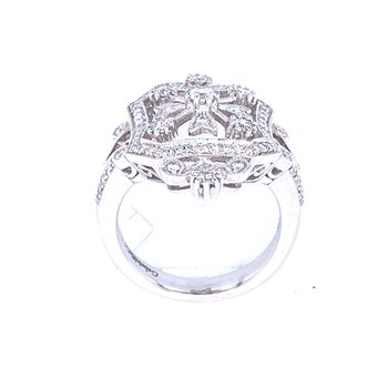 Vintage Inspiration Diamond Fashion Ring
