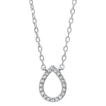 Dainty Delicacies Pear shaped Diamond Pendant