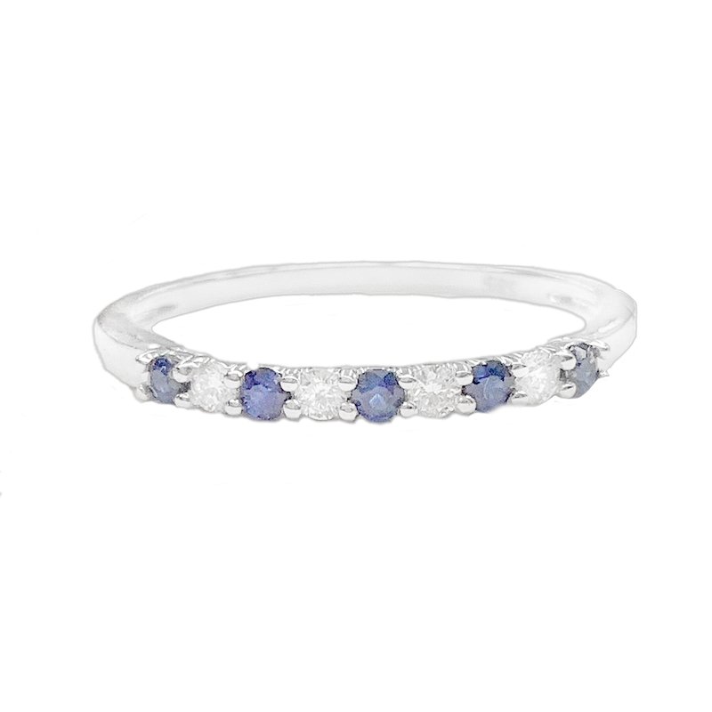 Bryan Beauties Sapphire & Diamond Gemstone Band