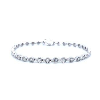 Vintage Inspired Diamond Line Bracelet