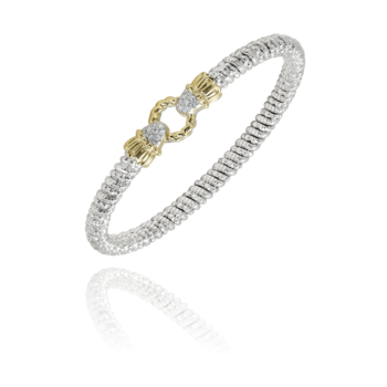 4mm Vahan Bangle with 0.11ctw of Diamonds