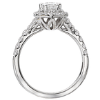 Romance Double Halo Pear Shaped Engagement Ring