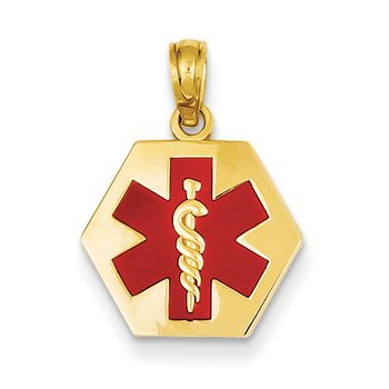 14k Yellow Medic Alert Charm