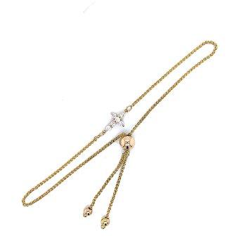 Simple Sideways Cross Friendship Bracelet
