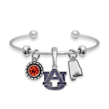 Auburn Multi Charm Cuff Bracelet