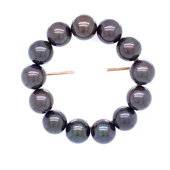 Black Pearl Circle Pin