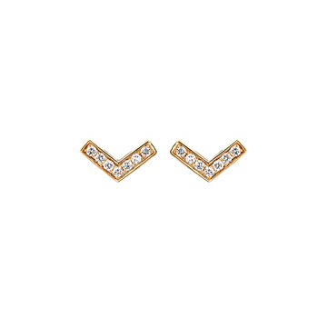 Chevron Diamond Studs