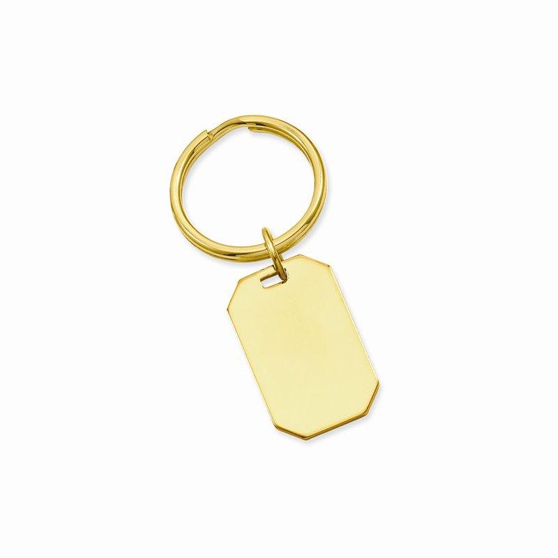 Bryan Beauties Gold Plated Rectangular Key Ring
