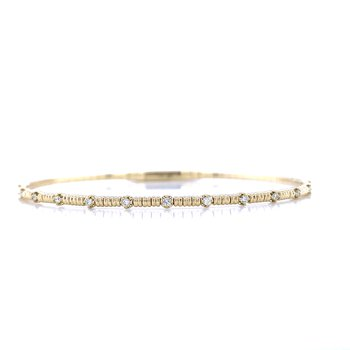 Sexy Slender Stackable Bangle Bracelet-14ky