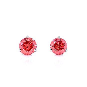 Evolv-Pink Diamond Earrings 1ctw