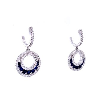Fandango Sapphire & Diamond Earrings