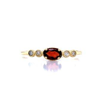 Sideways Garnet Ring