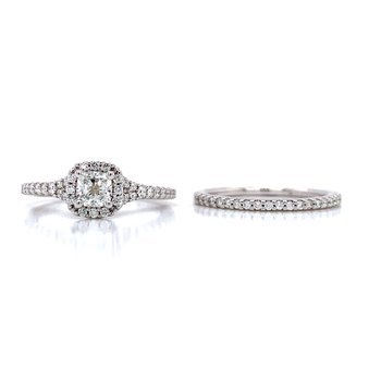 Romance Halo Cushion Wedding Set