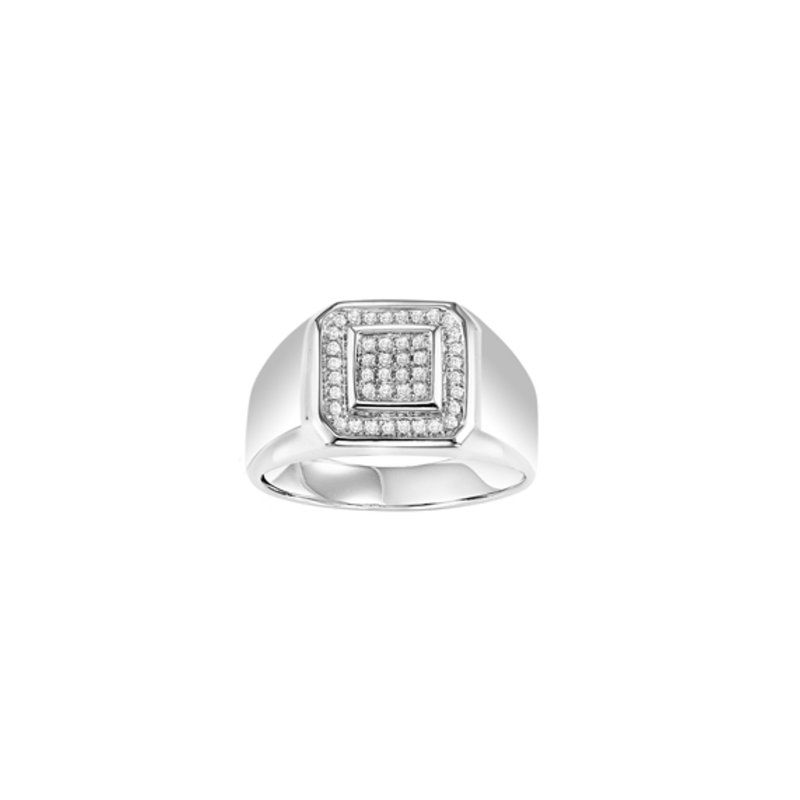 Bryan Beauties Gents Silver Ring with 1/4ctw diamonds