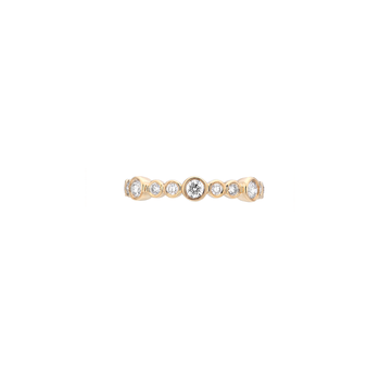 Single Row Bubbling Diamonds Band .45ctw