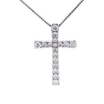 Diamond Cross Pendant 1.43ctw
