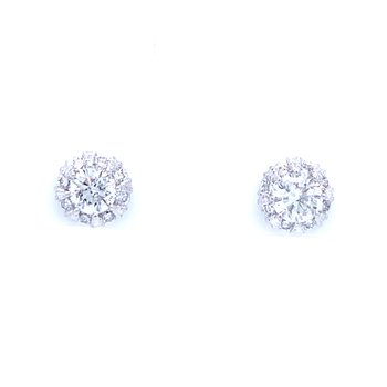 Simply Stunning Halo Earrings 14kw
