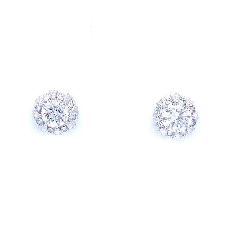 Bryan Beauties Simply Stunning Halo Earrings 14kw