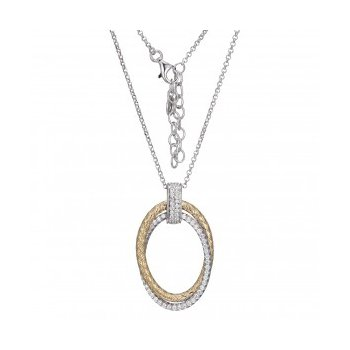 Two-tone Double Oval Pendant