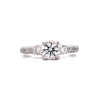 Miracle Style Three Stone Ring