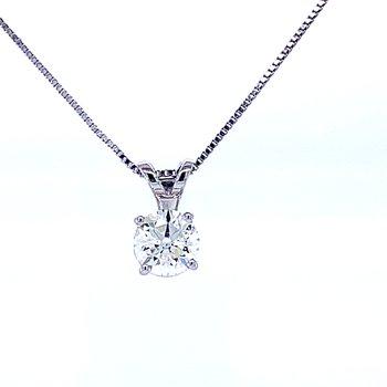 Solitaire Diamond Pendant 1/2ct