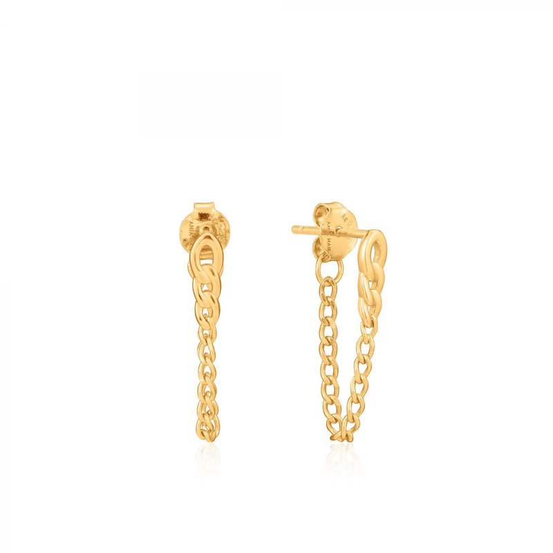 Ania Haie Curb Chain Stud Earrings
