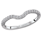 Romance Romance Curved Diamond Wedding Band