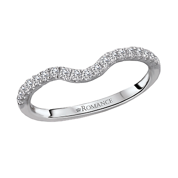 Romance Curved Diamond Wedding Band