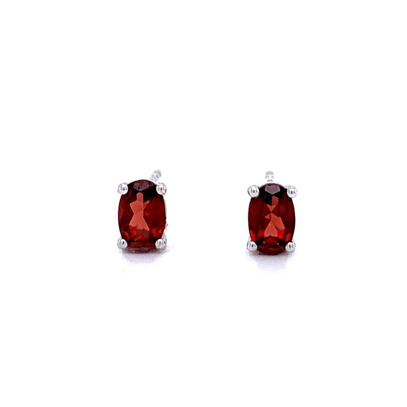 Bryan Beauties Oval Garnet Stud Earrings