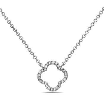 Bassali Quatrefoil Necklace in 14kw