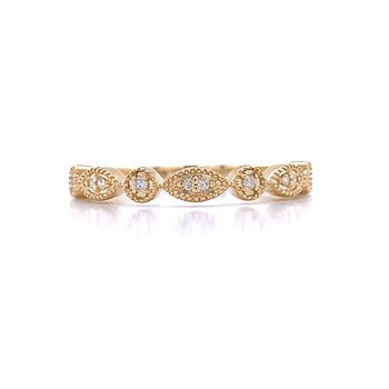 Stackable Style Diamond Band-10ky