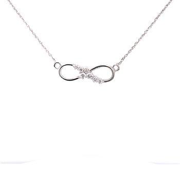 Infinity 1/5ctw Diamond Necklace-14kw