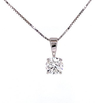 1/2ct Solitaire Pendant-lab grown