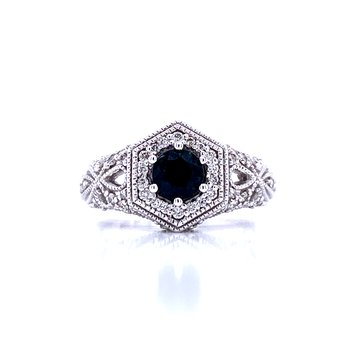 Vision in Vintage-Sapphire & Diamond Ring