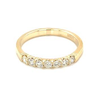 7 Diamond Shared Prong Band 1/3ctw 14ky