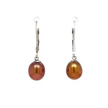 Chocolate Pearl Dangle Earrings