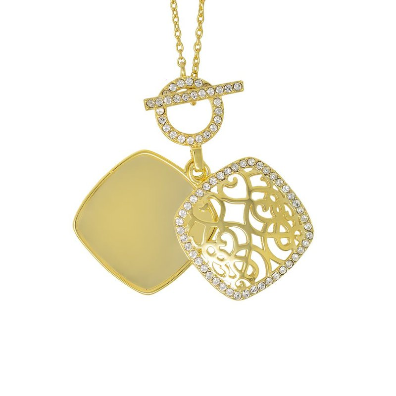 With You Amelia Toggle Locket Necklace