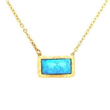 Imitation Turquoise Vermeil Necklace