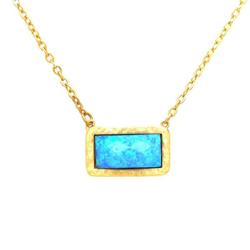 Bryan Beauties Imitation Turquoise Vermeil Necklace