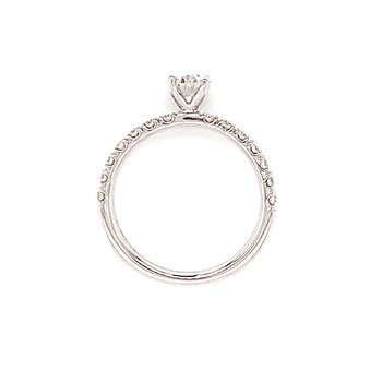 Toast the Romance Oval Engagement Ring-1ctw