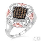 Bryan Beauties Silver and Champagne Diamond Ring
