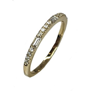 Baguette and Round Band in yellow