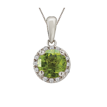 Ladies Fashion Gemstone Pendant-6mm Peridot