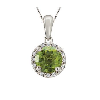 Ladies Fashion Gemstone Pendant-6mm Peridot