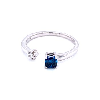 Fashion Forward Blue Diamond Ring