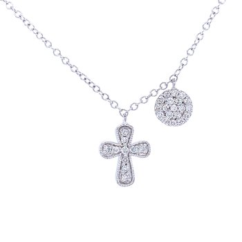Diamond Encrusted Cross Necklace