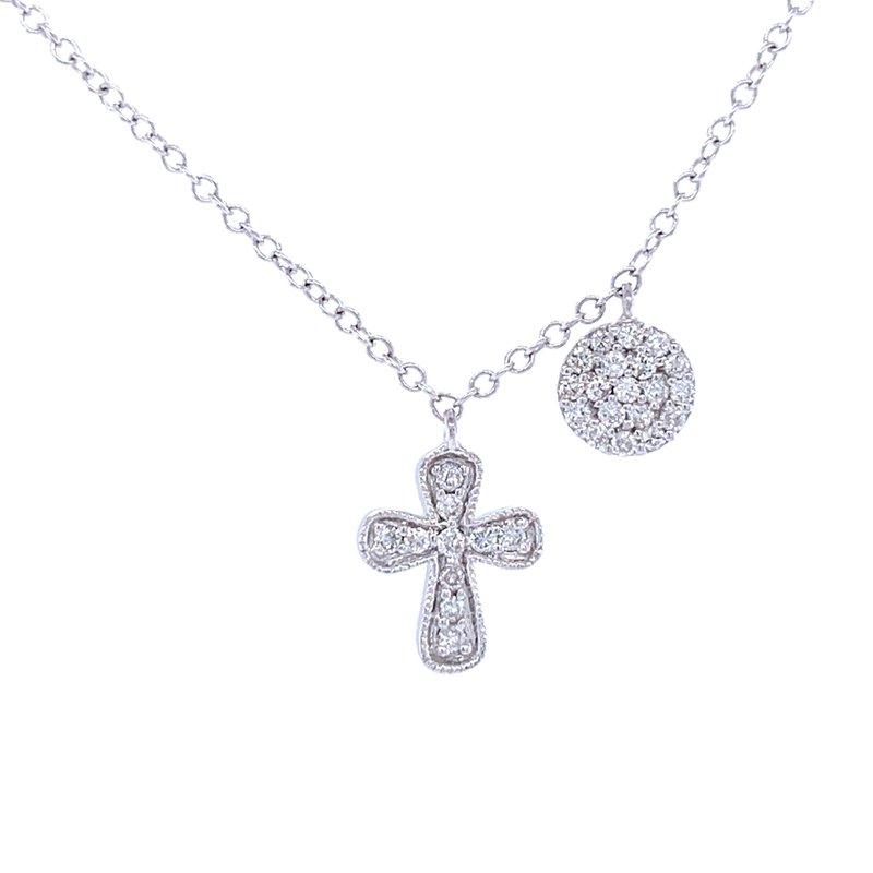 Bryan Beauties Diamond Encrusted Cross Necklace