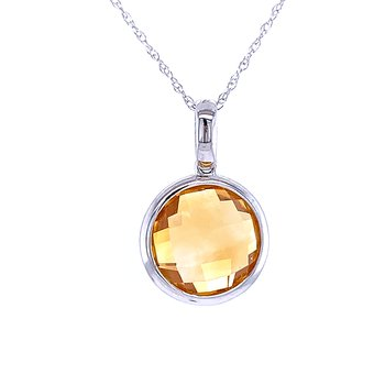 Gem Drops-Citrine Pendant