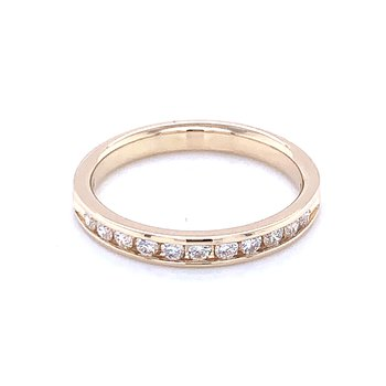 Channel Set Diamond Wedding Band 14ky-1/3ctw