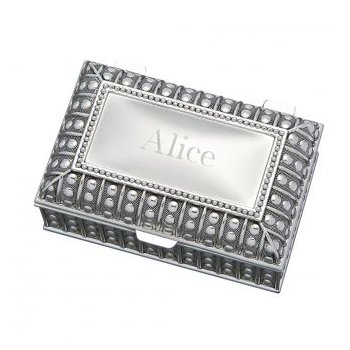 Silver Plated Rectangle Jewelry Box